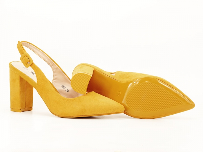 Pantofi galbeni decupati Elina 5