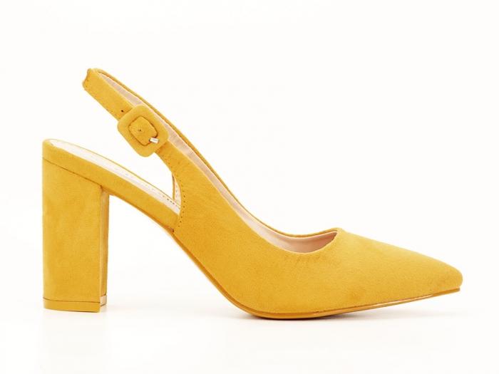Pantofi galbeni decupati Elina 0
