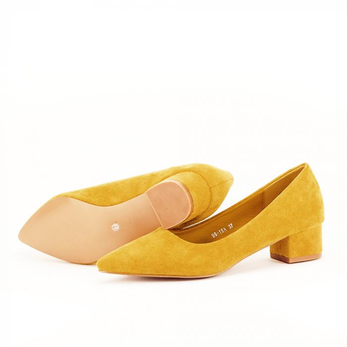 Pantofi galbeni cu toc mic Elisa [5]