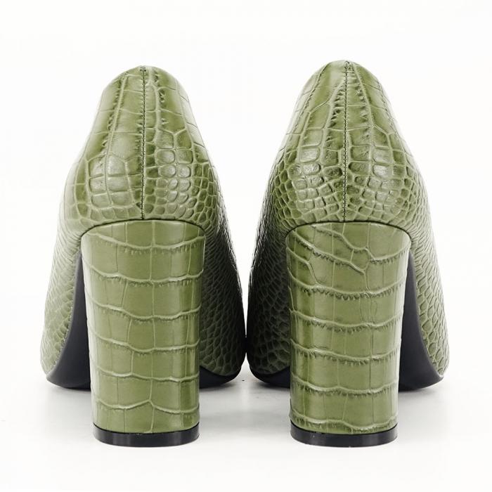 Pantofi kaki cu imprimeu Dalma 2