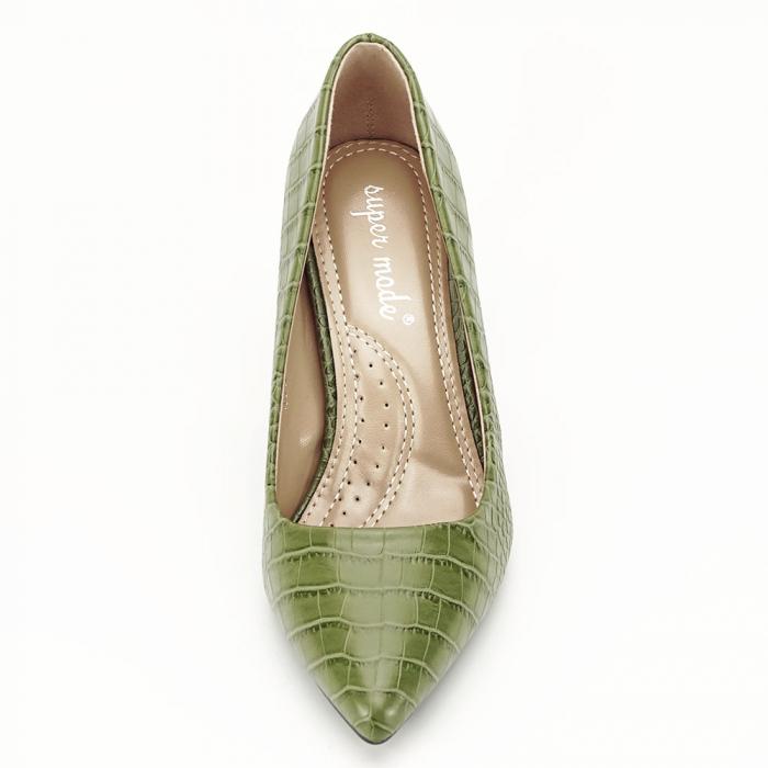 Pantofi kaki cu imprimeu Dalma 6