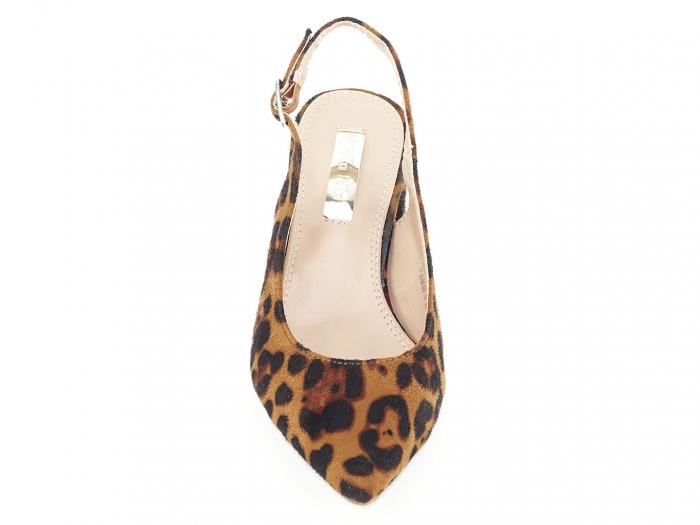 Pantofi cu imprimeu leopard decupati la spate Valeria 6