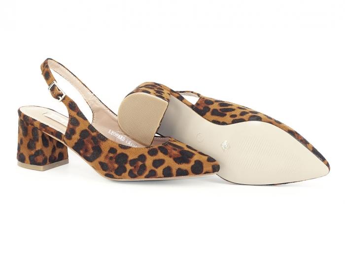 Pantofi cu imprimeu leopard decupati la spate Valeria 1