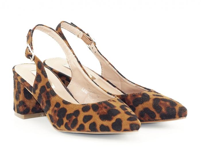 Pantofi cu imprimeu leopard decupati la spate Valeria 2