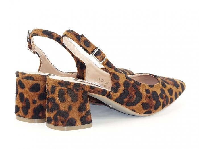 Pantofi cu imprimeu leopard decupati la spate Valeria 3