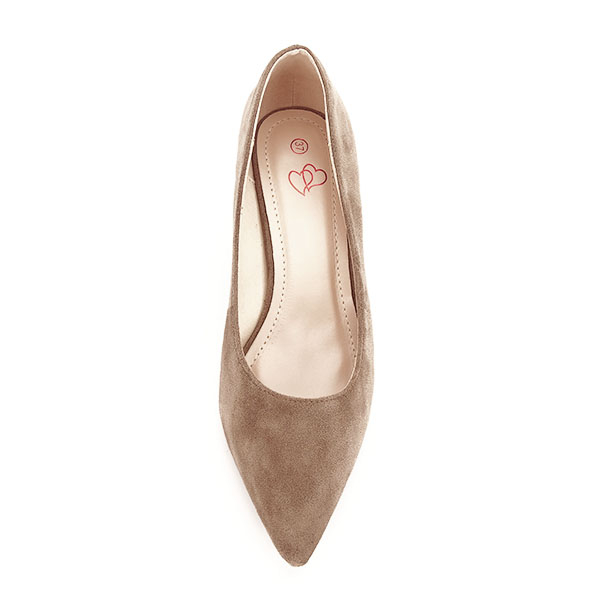 Pantofi maro deschis cu toc mic Ioana [7]