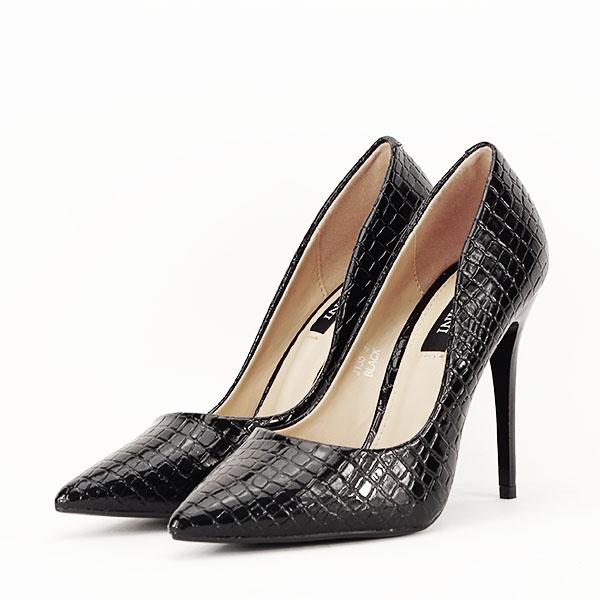 Pantofi negri cu imprimeu Alice [2]