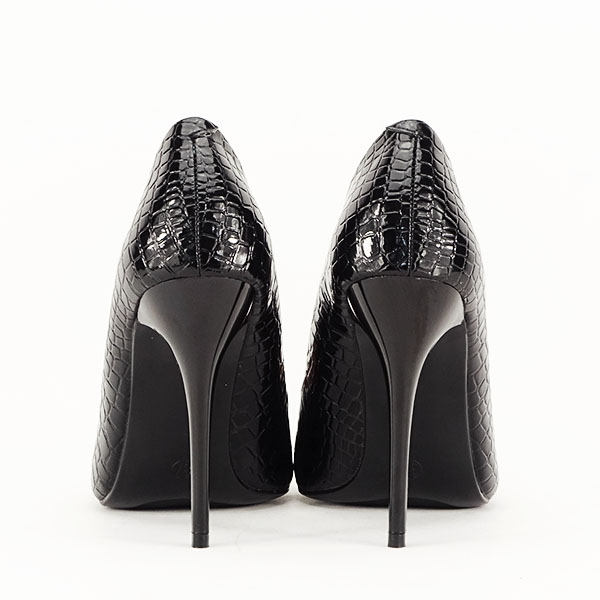 Pantofi negri cu imprimeu Alice [6]