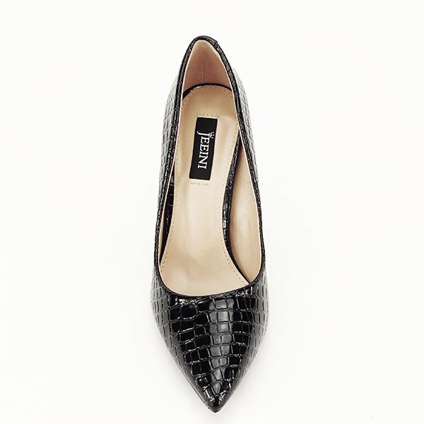 Pantofi negri cu imprimeu Alice [1]
