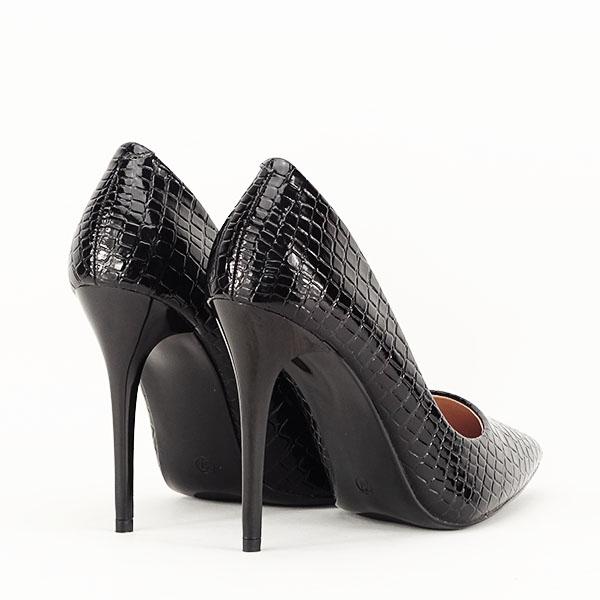 Pantofi negri cu imprimeu Alice [5]