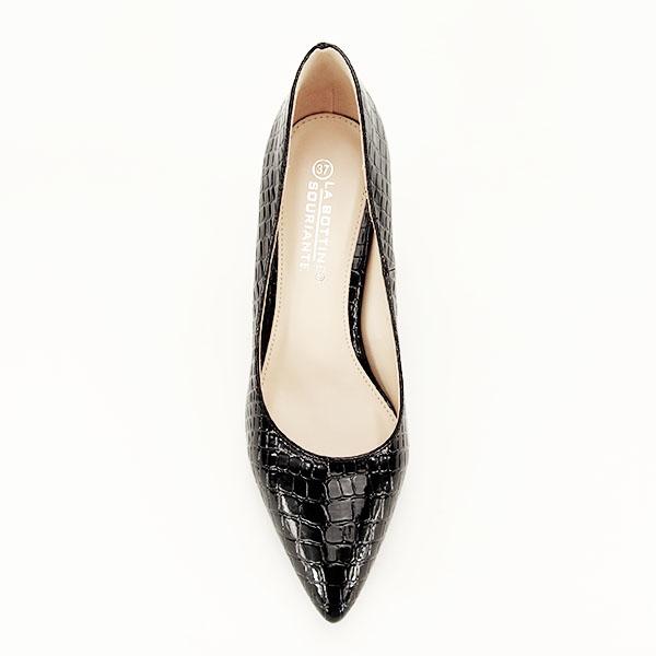 Pantofi negri cu imprimeu Bianca 1
