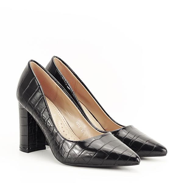 Pantofi negri cu imprimeu Dalma 2 [2]
