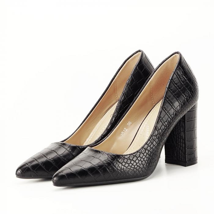Pantofi negri cu imprimeu Dalma [1]