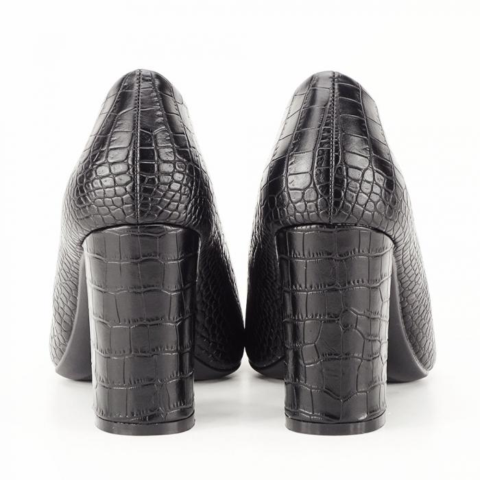 Pantofi negri cu imprimeu Dalma [3]