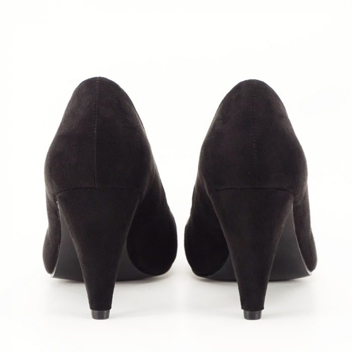 Pantofi negri cu toc conic Dion 2
