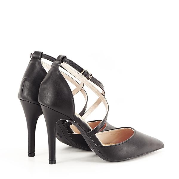 Pantofi negri cu toc cui Zoe [4]