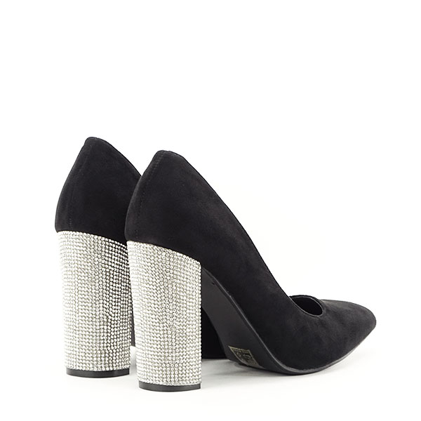 Pantofi negri cu toc Debbie 4