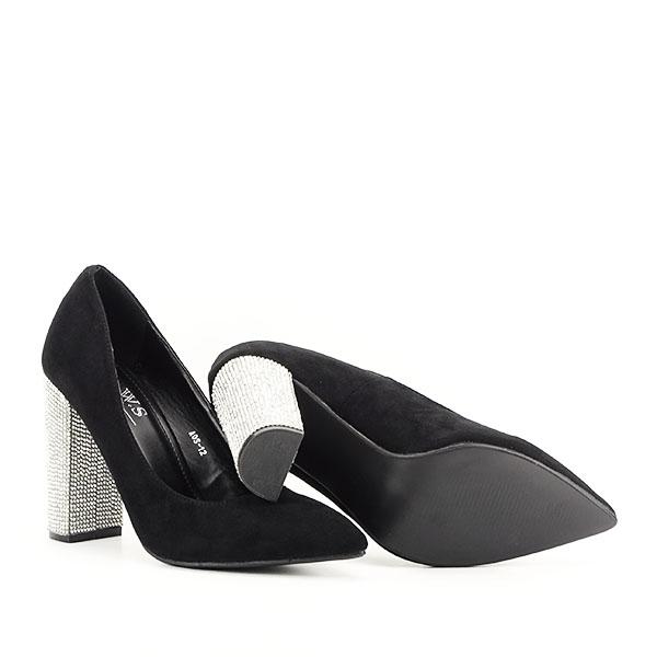 Pantofi negri cu toc Debbie 6