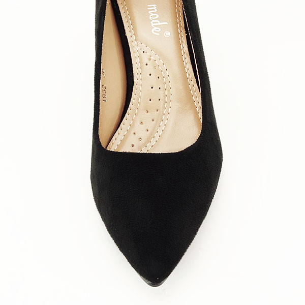 Pantofi negri cu toc gros Adelina 6