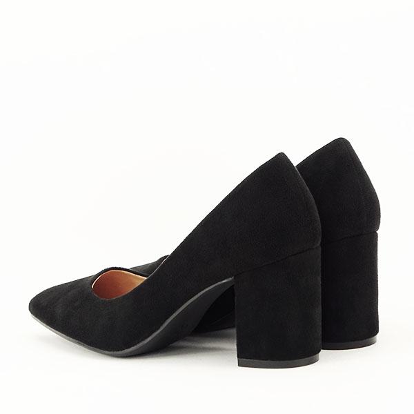 Pantofi negri cu toc gros Adelina 3