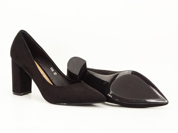 Pantofi office negri cu toc gros Anina 7