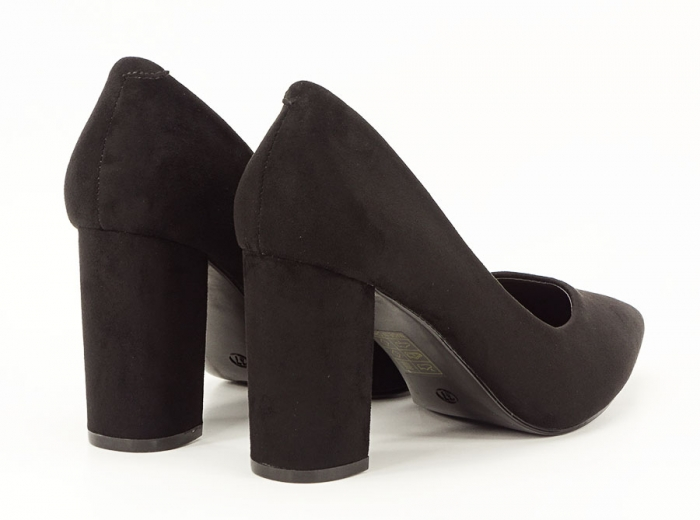 Pantofi office negri cu toc gros Anina 5