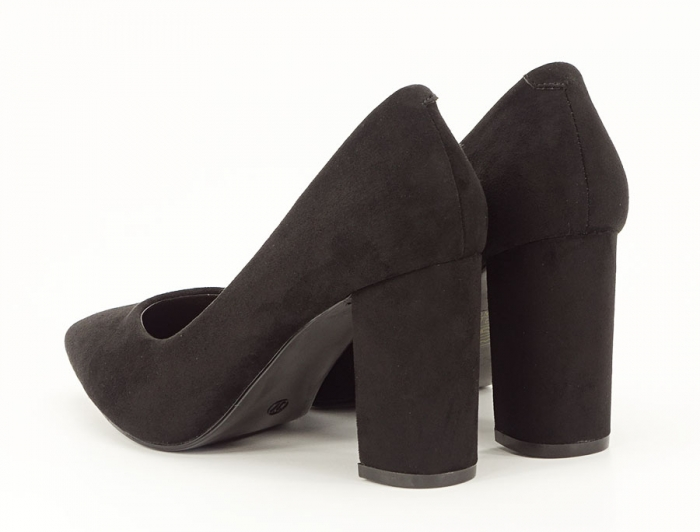 Pantofi office negri cu toc gros Anina 2
