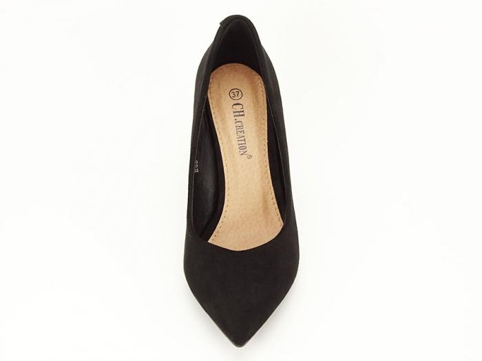 Pantofi office negri cu toc gros Anina 6