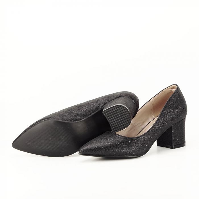 Pantofi negri cu toc gros Aura [7]