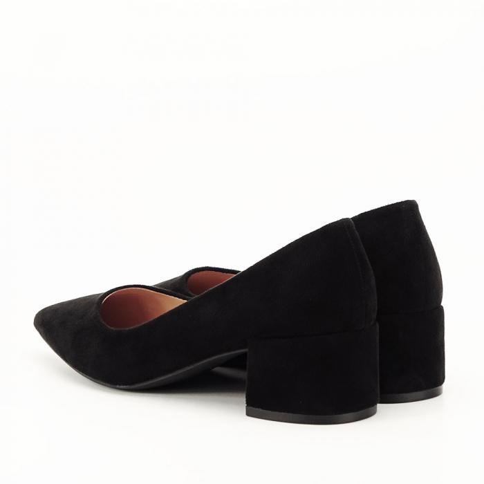 Pantofi negri cu toc mic Carla [6]