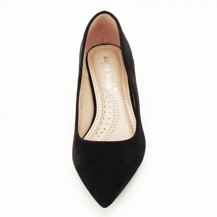 Pantofi negri cu toc mic Carla [3]