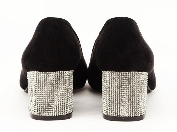 Pantofi negri cu toc mic Ioana 6