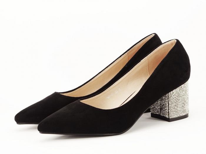 Pantofi negri cu toc mic Ioana 3