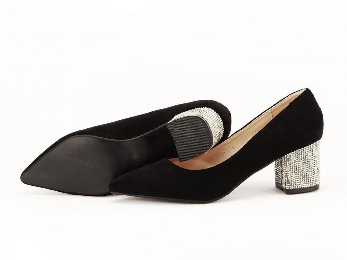 Pantofi negri cu toc mic Ioana 5