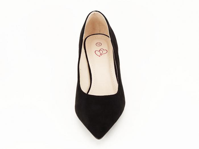 Pantofi negri cu toc mic Ioana 7