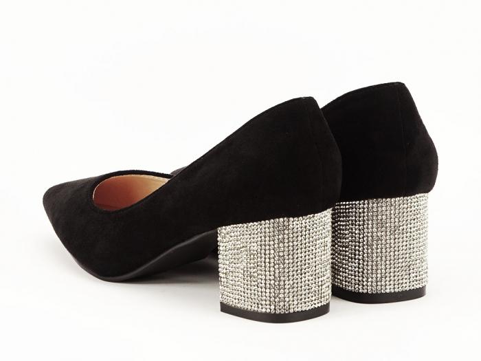 Pantofi negri cu toc mic Ioana 4