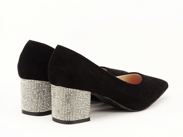 Pantofi negri cu toc mic Ioana 2