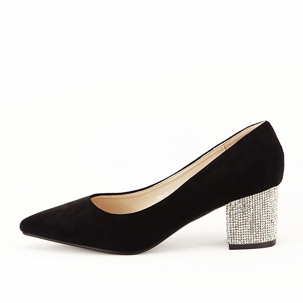Pantofi negri cu toc mic Ioana 0