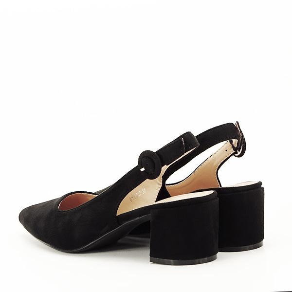Pantofi negri cu toc mic Simina [3]