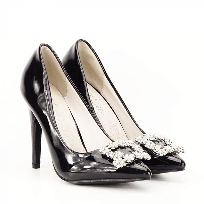 Pantofi negri de lac Sandra 2