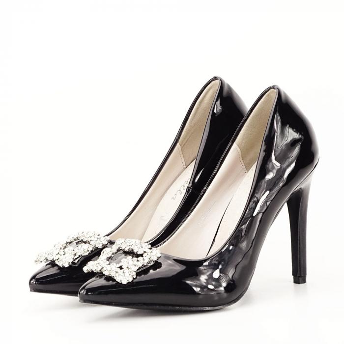 Pantofi negri de lac Sandra 0
