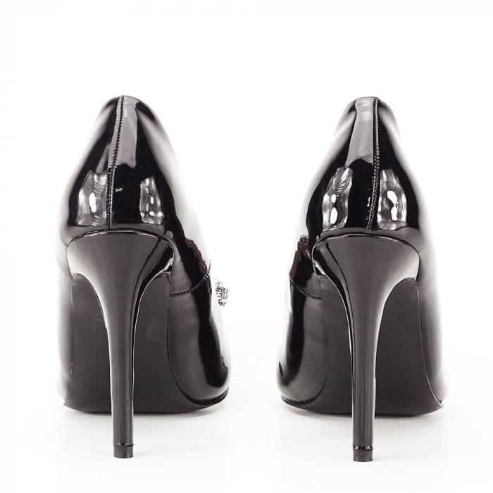 Pantofi negri de lac Sandra 4