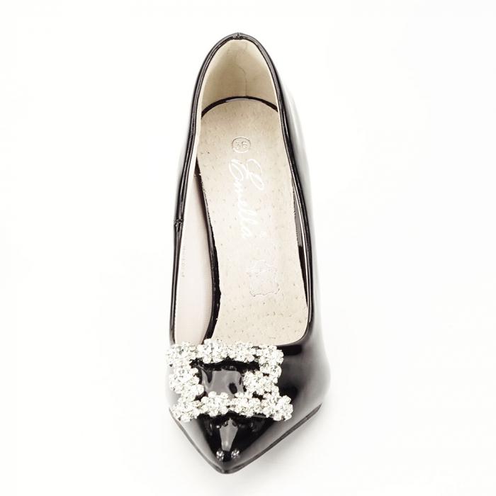Pantofi negri de lac Sandra 7