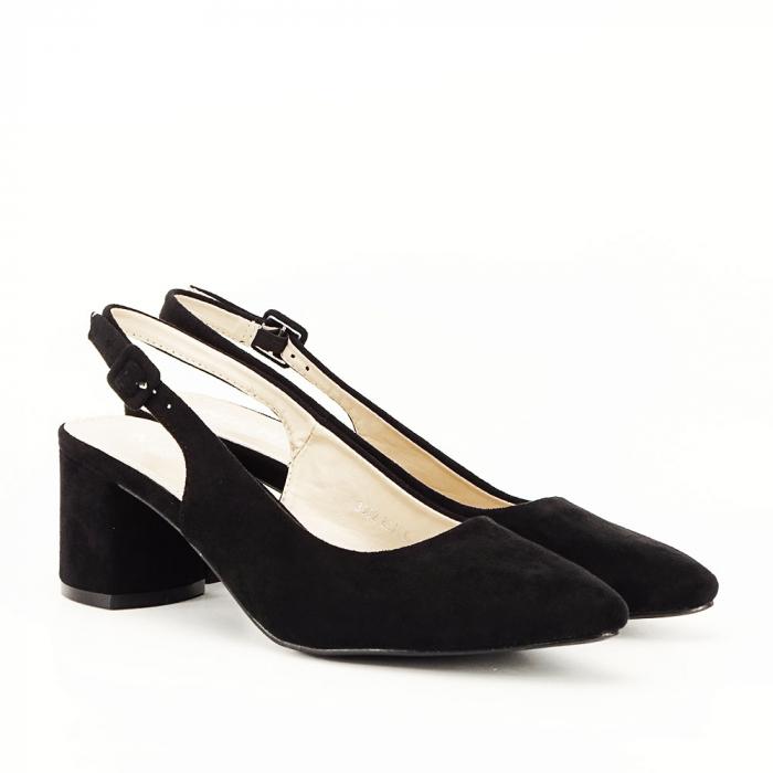 Pantofi negri decupati Cassie 5