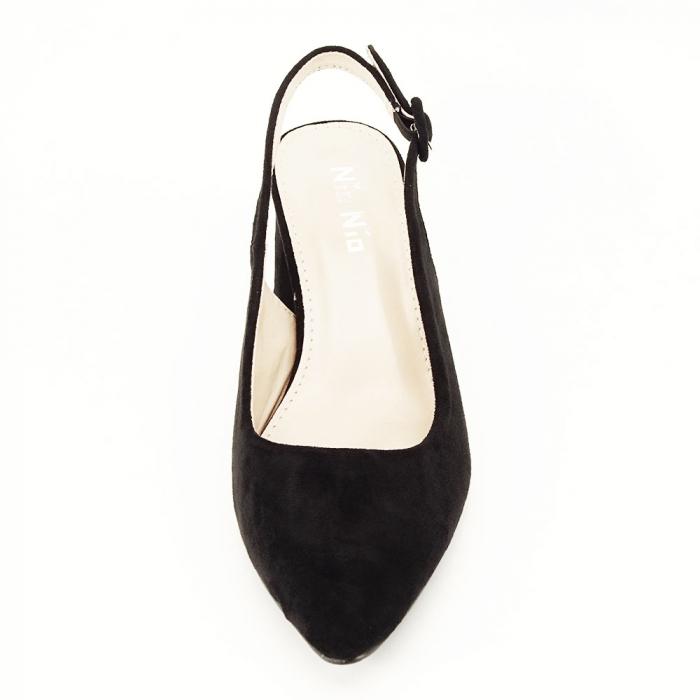Pantofi negri decupati Cassie 7