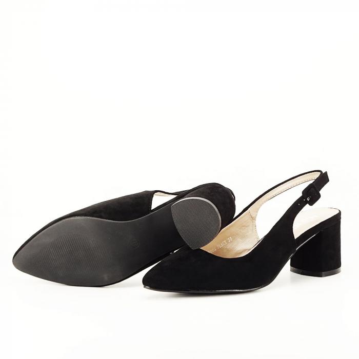 Pantofi negri decupati Cassie 4