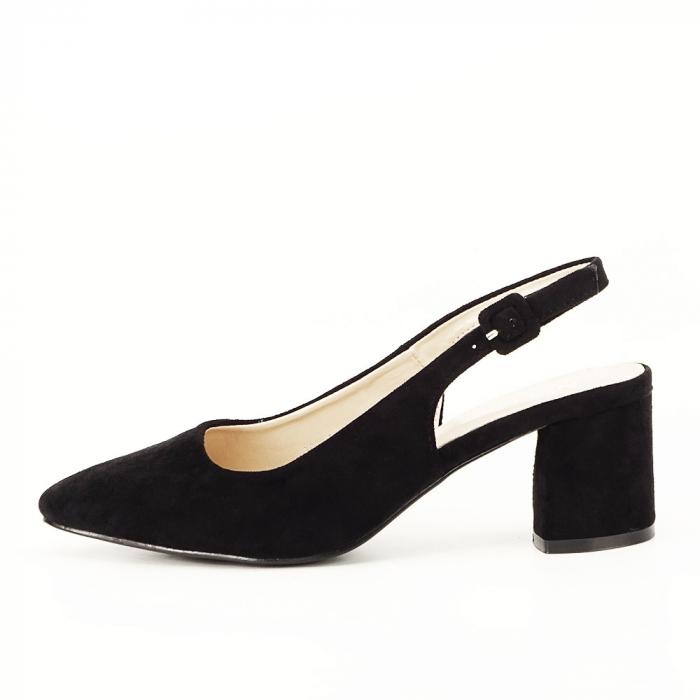 Pantofi negri decupati Cassie