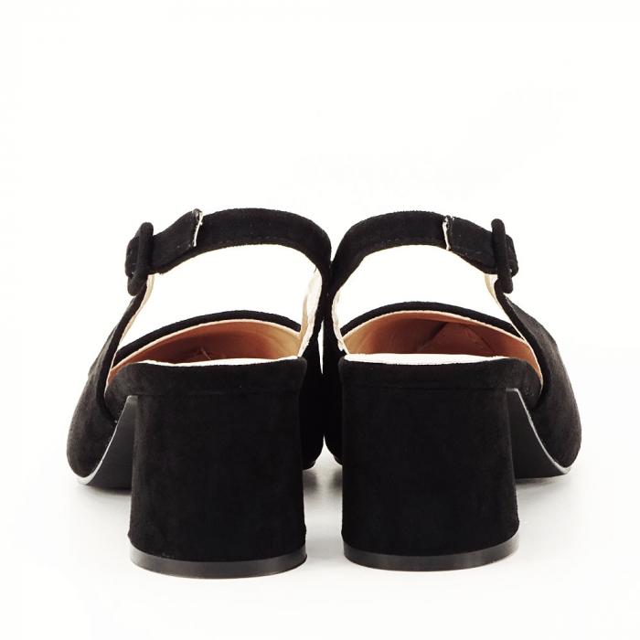 Pantofi negri decupati Cassie 3