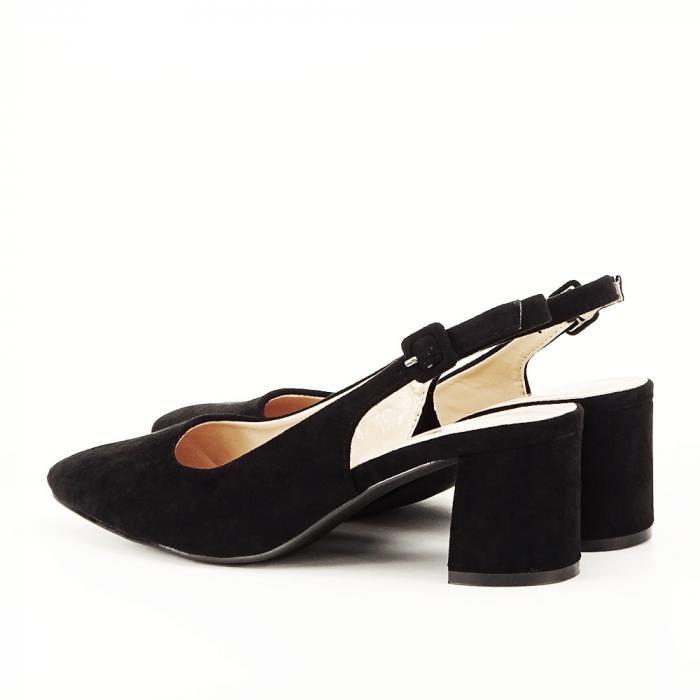 Pantofi negri decupati Cassie 6
