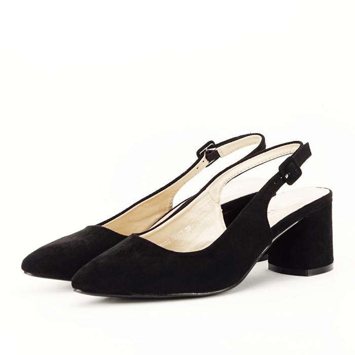 Pantofi negri decupati Cassie 2